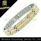 2014 custom gold plated titanium bracelet health benefit