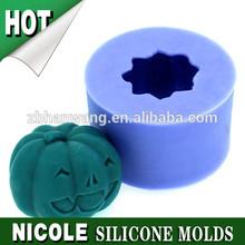 pumpkin hallween silicone mold