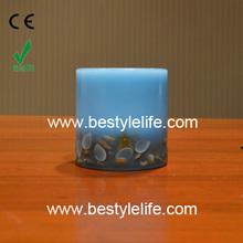 pillar wax candle, decorative seashell candle craft