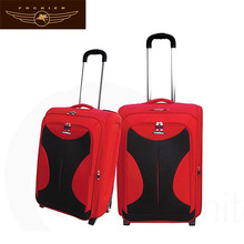 2014 new polyester travel baggages suitcase with aluminum trolley