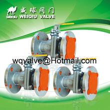 2PC PN16 Stainless Steel flange full bore ball valve ,steam trap