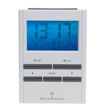 Radio controlled table alarm clock