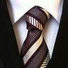 100% silk slim ties, strip silk ties,promotional silk ties