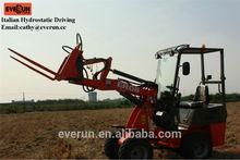 Qingdao Everun CE Approved ER08 Mini Front End Loader with Pallet Forks