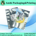 Aluminized self heating food pouch 3 sides sealed bag