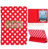 Elegance Polka Dots Pattern Tri-fold Stand Leather Cases for iPad Mini