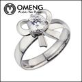 design semplice gioielli in argento sterling anello di nozze di cristallo mosaico