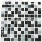 China factory balck grey white mosaic glass tile 25mm