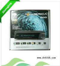 Nagra3 Hd Receiver Azamerica S1001 With SKS,IKS,iptv for brazil