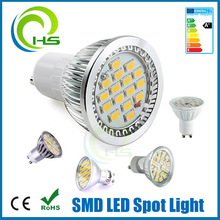 15smd gu10, 5730,5630,5050 smd led spotlight gu10 with cover, 85-265V GU10 5.3W Cool White , 50w replacement led spot