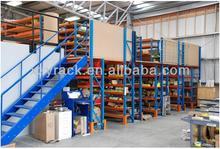 industrial metal storage mezzanine racking for shoe fabric textile reel storage