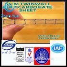 hollow polycarbonate plastic sheet 6mm