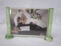 Scroll sample shaped crystal clear acrylic photo frame