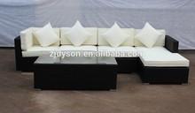 All weather outdoor 5pcs wicker/ rattan sofa set ,milk white