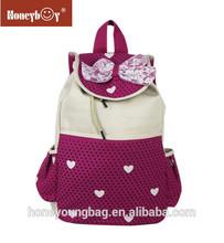 Young girls waterproof nylon drawstring school bag