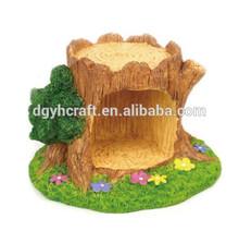 christmas miniature houses resin bird house
