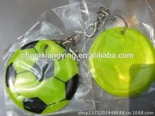 Promotion Reflective key chain, soft pvc key chain custom,,football pandent chain