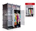 Venta caliente material de PVC plegable armario armario del gabinete FH-AL0742-12