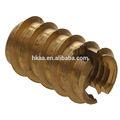 personalizado em aço carbono de bronze madeira inserir porca de bloqueio