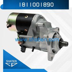 isuzu starter motor,starter motor4.5kw, 24v satrter ,6BD1 6BG1 engineDENSO motor,1811001890,lester 18100N