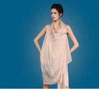 Free Sample No NOQ Custom Digital Print Silk Plain Gauze Long Shawl