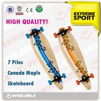New style 7 plies Canadian maple skateboard,abec-7 bearings mini cruiser fish skateboard