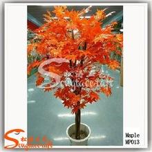 high simulation orange maple tree weeding decoration