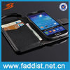 2014 Hot selling leather case for samsung galaxy s4 mini with wallet