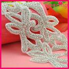 new arrival bridal accessory decorative crystal trimming wholesale rhinestone applique WRA-569