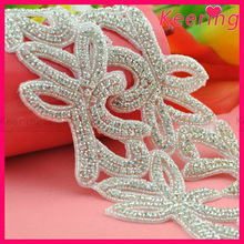new arrival bridal accessory decorative crystal trimming wholesale rhinestone applique WRA-569