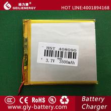 External battery for laptop Li-polymer 408090 3500mAh 3.7v battery