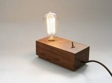 Vintage Edison Bulbs Wooden Table Lamp