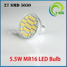 High Quality aluminium led pcb 4W/5W RA80 CE ROHS 21SMD/24SMD/27SMD 5050/2835/ 5730 SMD spotlights Aluminium 27smd 5050 MR16