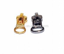 metal garment slider gold and silver silder auto lock slider