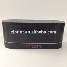 black hot stamping logo cosmetic round case