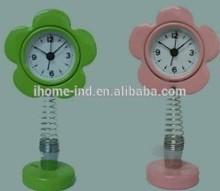 mini metal spring alarm table clock for kids