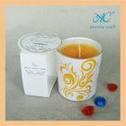 2014 hot seller natural scented soy wax in art candle jar