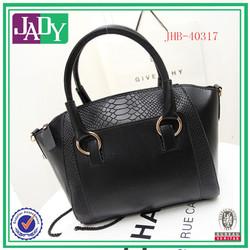 Wholesale china supplier fashion 2014 retro trend crocodile handbags black pu leather tote bag women's bag