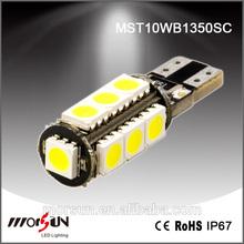 Hot sale super bright Canbus T10 13pcs 5050SMD signal light t10 13smd car led lamp