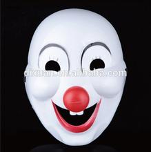 PVC Cartoon clown mask halloween masks white mask