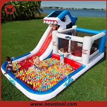 Hot Sale Shark & Ball Pool Outdoor Water Slide Inflatable