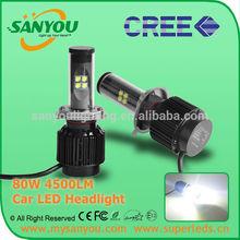 Newest Car LED Light H4 CREE LED High Power 80W 4500lm H4 LED Headlight For Car