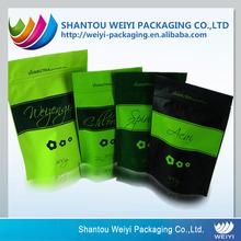 Custom heat seal plastic tea packaging supplies
