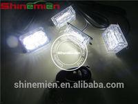 emergency vehicle white led grill light wireless remote led strobe lamp kit