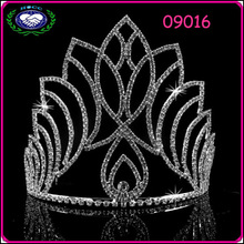 2014 stylish alloy electroplating diamond big pageant crowns for sale paypal accepted