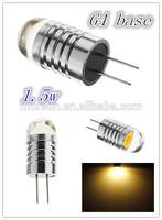 super bright base G4 1.5W led auto car lamp, led interior lamp, fog lamp