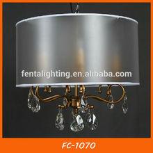 Special black lampshade gold branch frame color crystal chandelier FC-1070