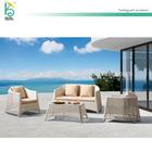 outdoor DIY sofa creamy loveseat off white rattan furniture cane sofa