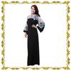 MF23353 new muslim fashion Saudi Arabia black abaya islamic kaftan