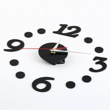 DIY Self Adhesive Room Interior Decoration Digit Dot Number Wall Clock Children